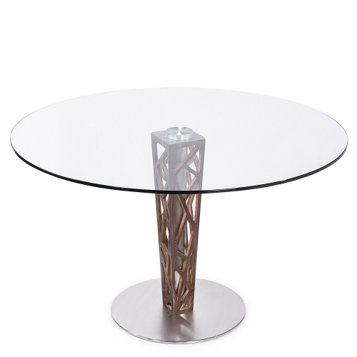 Crystal 48-inch Round Dining Table - Clear