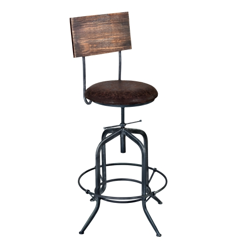 Damian Adjustable Bar Stool - Grey