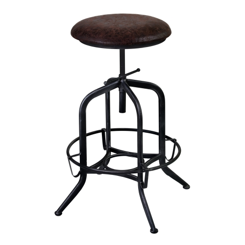 Elena Adjustable Bar Stool - Grey