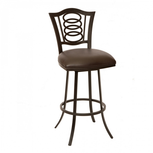 Essex 26-inch Transitional Barstool In Coffee and Auburn Bay Metal