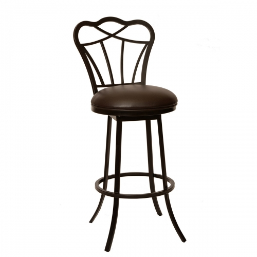Galvin 26-inch Transitional Barstool In Coffee and Auburn Bay Metal