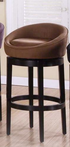 AL LCIGBAMFBR Igloo Micro Fiber Swivel Barstool Eboneyed Legs 293 1061
