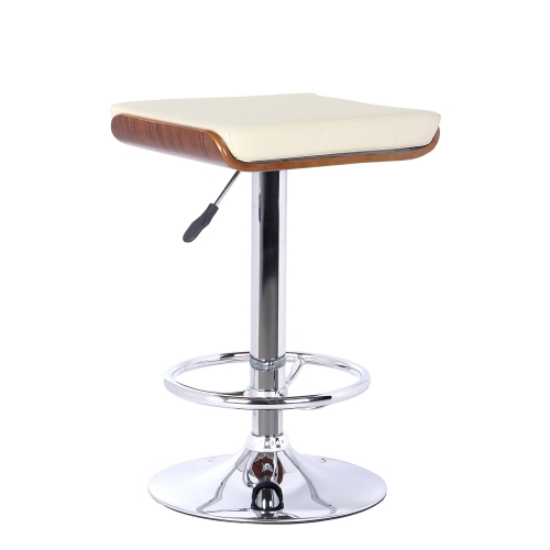 Java Bar Stool - Cream Leatherette