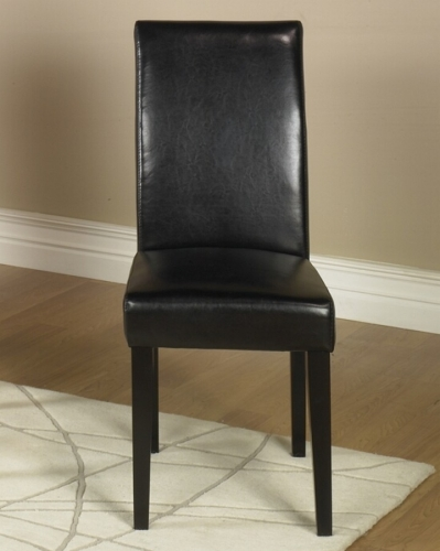 Black Leather Side Chair Md-014