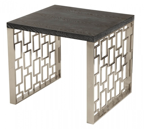 Skyline Lamp Table - Charcoal