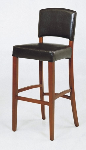 AL LCSNBABLBL Sonora Stationary Leather Barstool 296 878