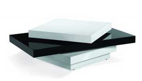 Modern Swivel Coffee Table - Black/White