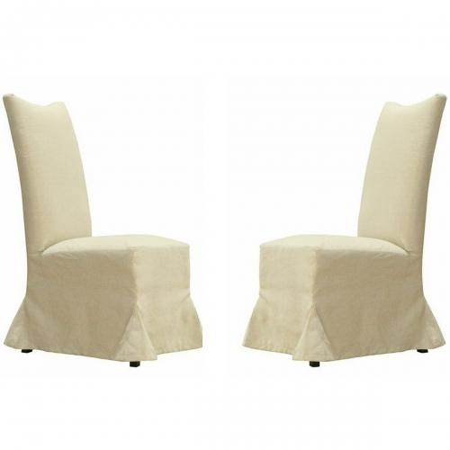 Tuxedo Linen Dining Chair