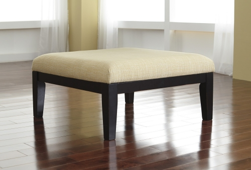 Chamberly Oversized Accent Ottoman - Alloy