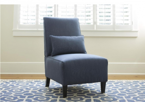 Harahan Armless Chair - Indigo