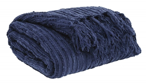 Noland Throw - Set of 3 - Navy
