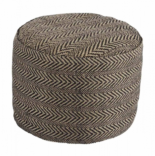 Chevron Pouf - Natural
