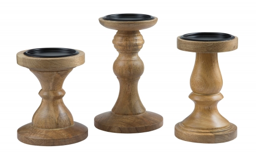 Kadience 3 PC Set Candle Holder - Natural