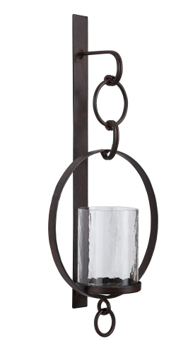 Ogaleesha Wall Sconce - Brown