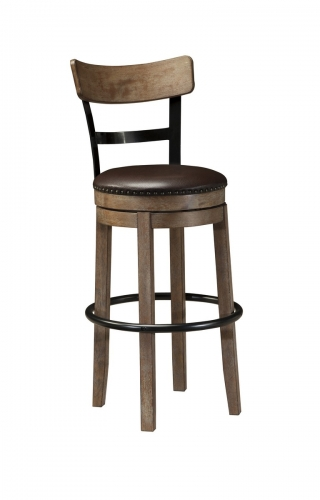 Pinnadel Upholstered Swivel Bar Stool