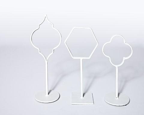 Acotas Photo Holder - Set of 3 - White