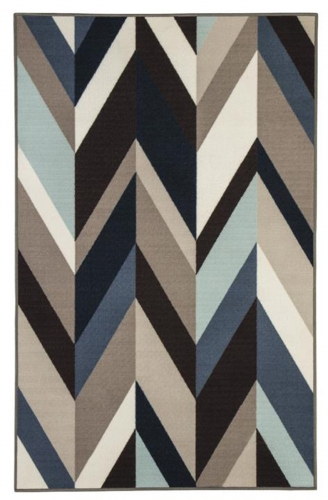 Keelia Medium Rug - Blue/Brown/Gray