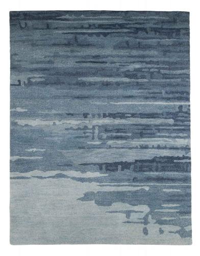 Patterned Medium Rug - Blue/Gray
