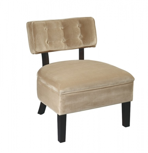 Avenue Six Curves Button Chair - Coffee
