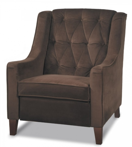 Curves Tufted Chair - Chocolate Velvet