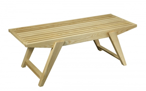 Lane Slat Bench - Natural