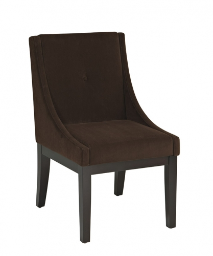 Avenue Six Curves Willow Chair - Brushed Chocolate