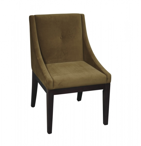 Avenue Six Curves Willow Chair - Brushed Olive