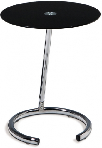 Yield Telephone Table - Black Glass