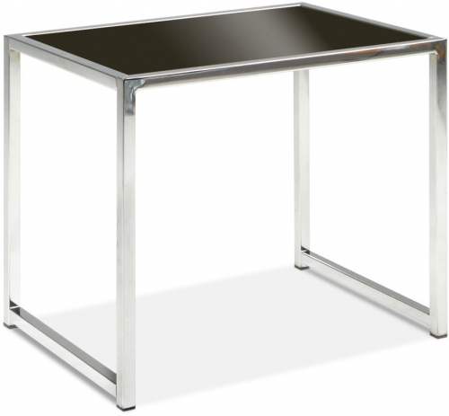 Yield End Table - Black Glass