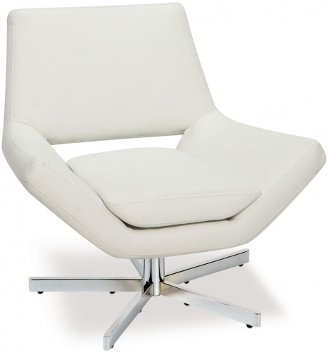 Yield Chair - White Vinyl