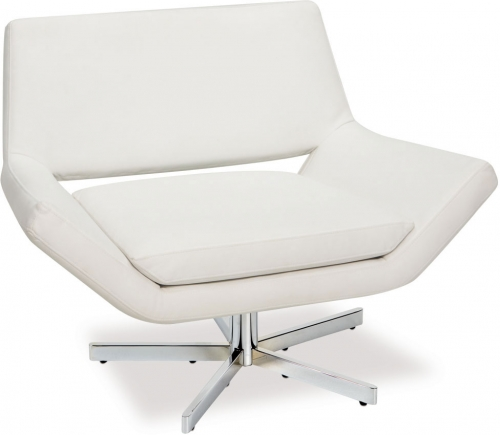 Yield 40in Wide Chair - White Vinyl