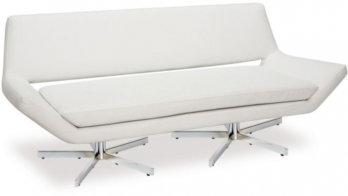 Yield Loveseat - White Vinyl
