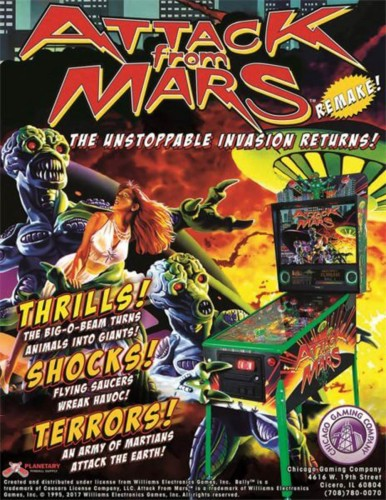 Attack From Mars Remake Pinball Machine – Classic Edition