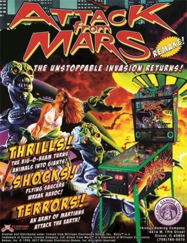 Attack From Mars Remake Pinball Machine – Classic Edition
