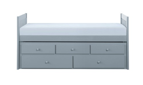 Homelegance Orion Twin/Twin Trundle Bed with Two Storage Drawers - Gray