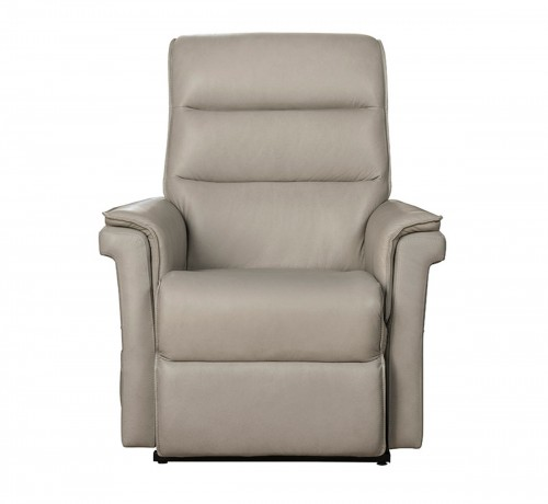 Luka Lift Chair Recliner with Power Head Rest - Venzia Cream/Leather Match