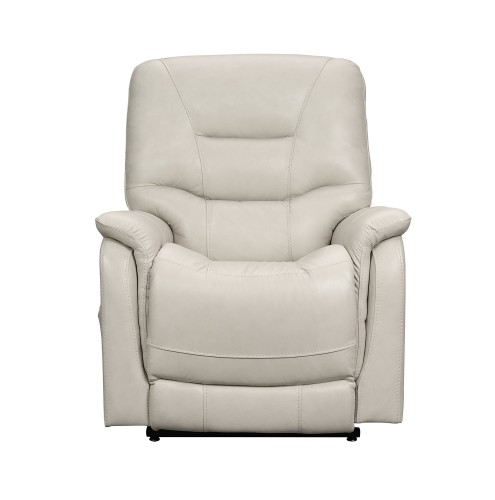 Lorence Lift Chair Recliner with Power Head Rest - Venzia Cream/Leather Match