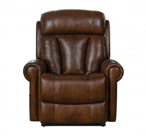 Lyndon Lift Chair Recliner with Power Head Rest and Lumbar - Tonya Brown/Leather Match