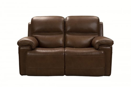 Sedrick Power Reclining Console Loveseat with Power Head Rests - Spence Caramel/Leather Match
