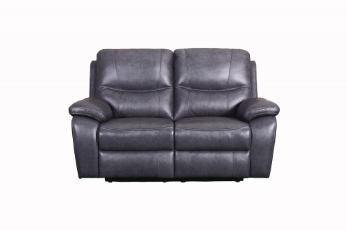 Carter Power Reclining Loveseat - Toby Gray/Leather Match