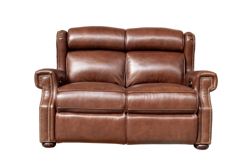 Benwick Power Reclining Loveseat with Power Head Rests - Shoreham Chocolate/All Leather