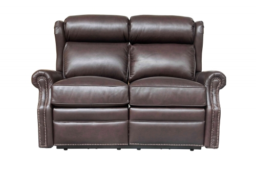 Southington Power Reclining Loveseat with Power Head Rests - Shoreham Dark Umber/All Leather