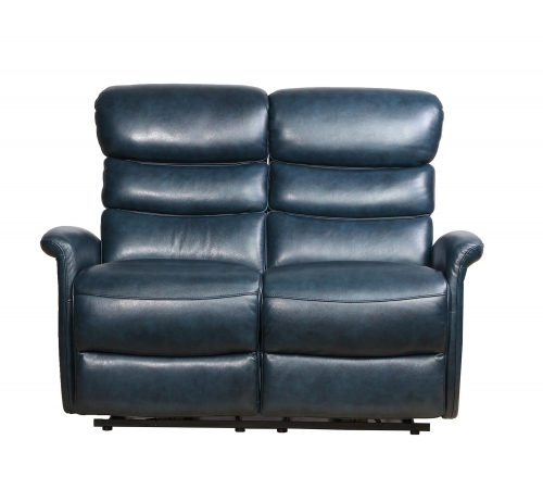 Kelso Power Reclining Loveseat with Power Head Rests - Ryegate Sapphire Blue/Leather Match