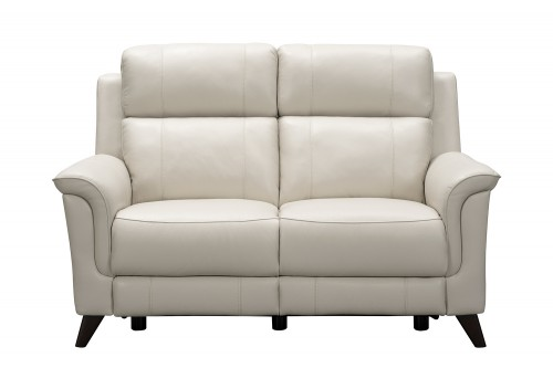 Kester Power Reclining Loveseat with Power Head Rests - Laurel Cream/Leather match