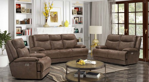 Lawson Power Reclining Sofa Set with Power Head Rests - Garrett Chocolate/fabric