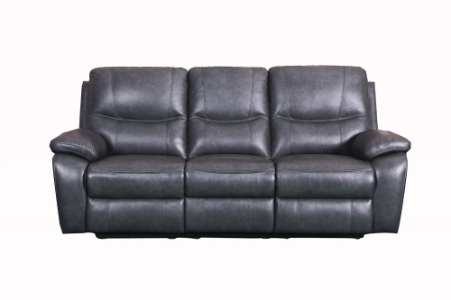 Carter Power Reclining Sofa - Toby Gray/Leather Match