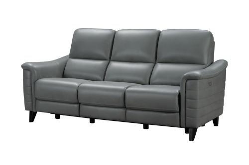 Malone Power Reclining Sofa with Power Head Rests - Antonio Green Gray/Leather Match