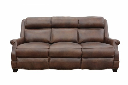 Warrendale Power Reclining Sofa with Power Head Rests - Worthington Cognac/All Leather