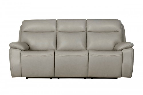 Micah Power Reclining Sofa with Power Head Rests - Venzia Cream/Leather Match