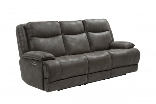 Lawson Power Reclining Sofa with Power Head Rests - Garrett Gray/fabric